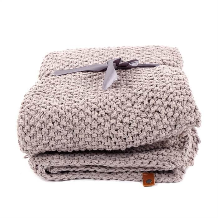 strick plaid svea 130x150 cm erd grau 100 baumwolle decke wolldecke ebay. Black Bedroom Furniture Sets. Home Design Ideas