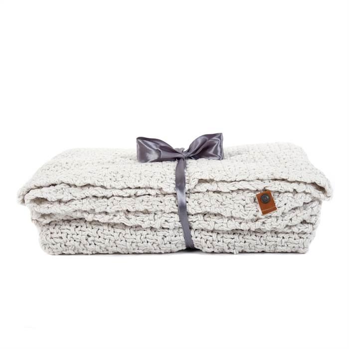 strick wolldecke svea creme 150x130 cm baumwolle kuscheldecke ebay. Black Bedroom Furniture Sets. Home Design Ideas