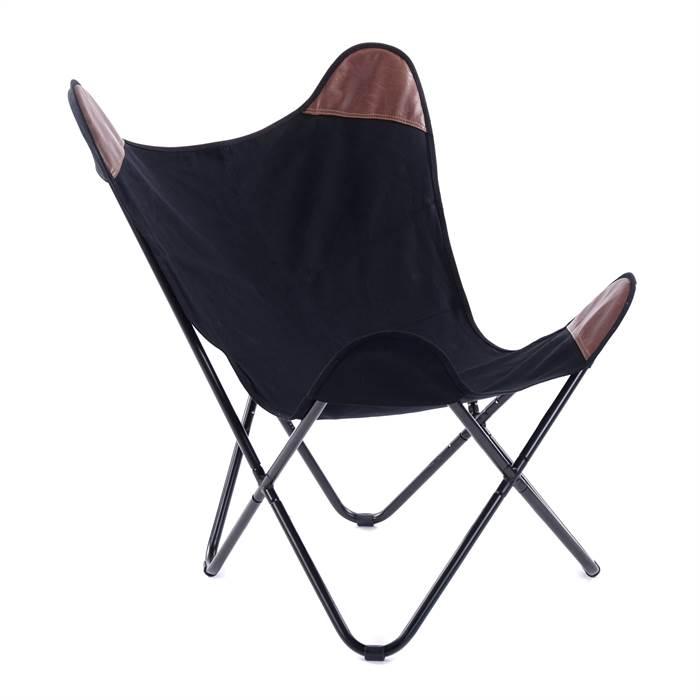 design sessel fritzi leinen kunstleder eisen 55 cm schwarz stuhl ebay. Black Bedroom Furniture Sets. Home Design Ideas