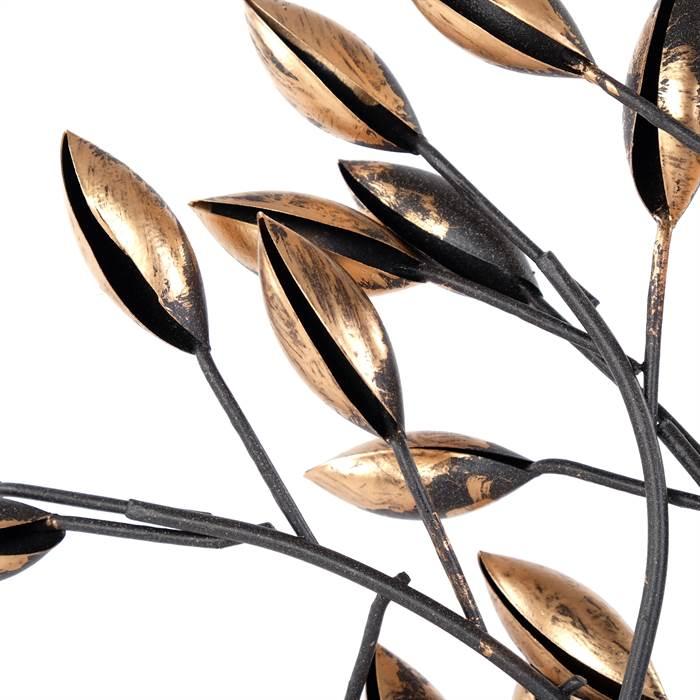 Wundersch ne design deko figur albero 56 cm metall - Metall baum deko ...