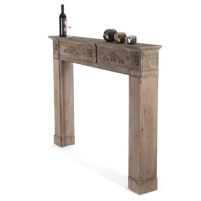 Design kaminkonsole barock braun 137x113x20 cm kamin rahmen kaminumrandung ebay - Deko kamin rahmen ...