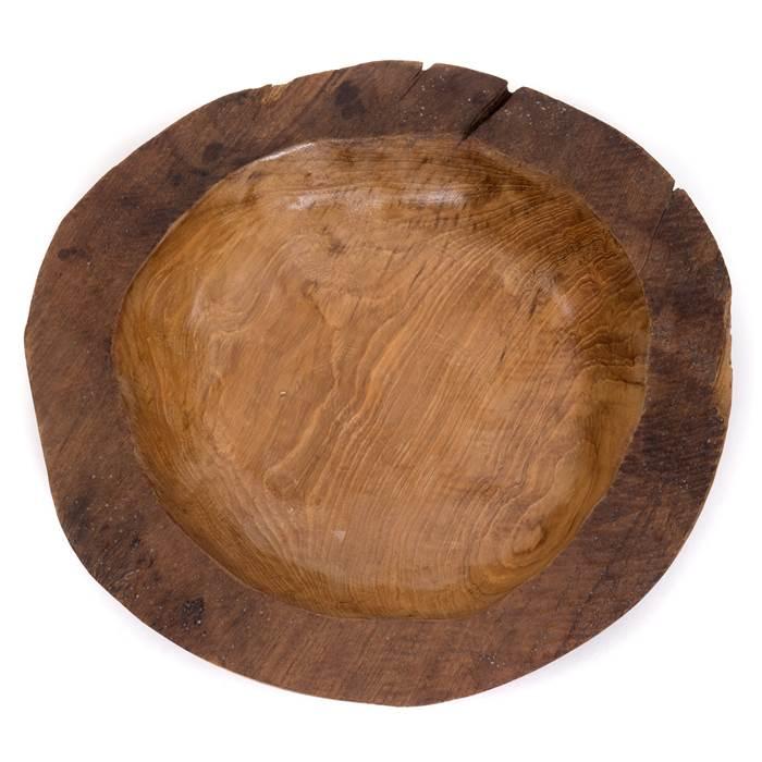 Holzschüssel Teakholz Neu  D30 cm x 10 cm Hoch